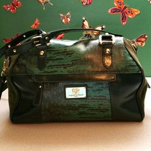 Sharif green leather bag